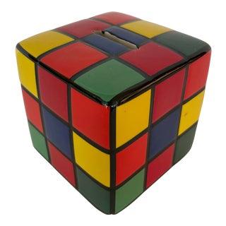 Rubik Cube, Ceramic Piggy Bank For Sale