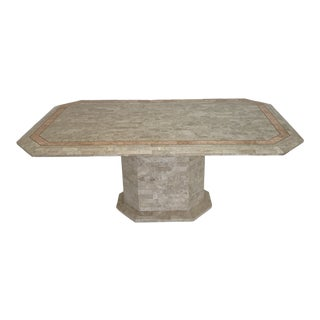 1990s Art Deco Tessellated Stone Dining Table For Sale