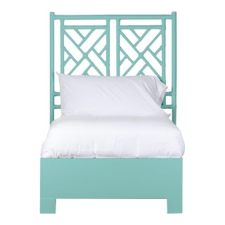 Chippendale Bed Twin - Turquoise For Sale