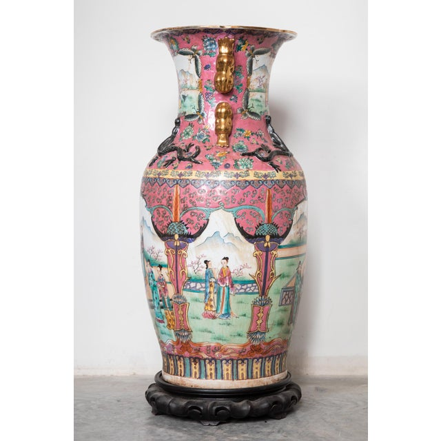 Cantoni Large Antique Chinese Vases for the Floor Modern Decor Decorative Living Room For Sale - Image 4 of 7