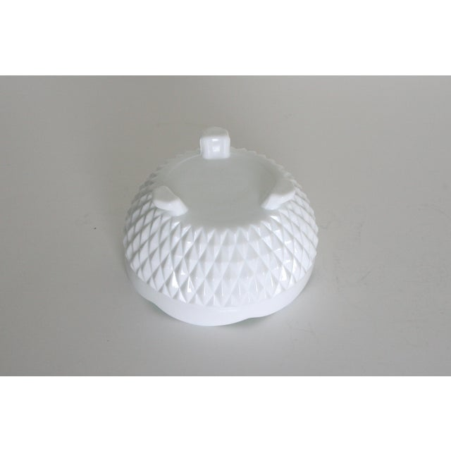 Vintage Mid-Century Milk Glass Footed Catchall Bowl or Candy Dish For Sale - Image 4 of 5