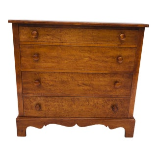 Vintage Chippendale Style Birds-Eye/Tiger Maple Dresser For Sale