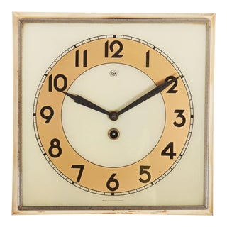 Beautiful Art Deco Wall Clock For Sale