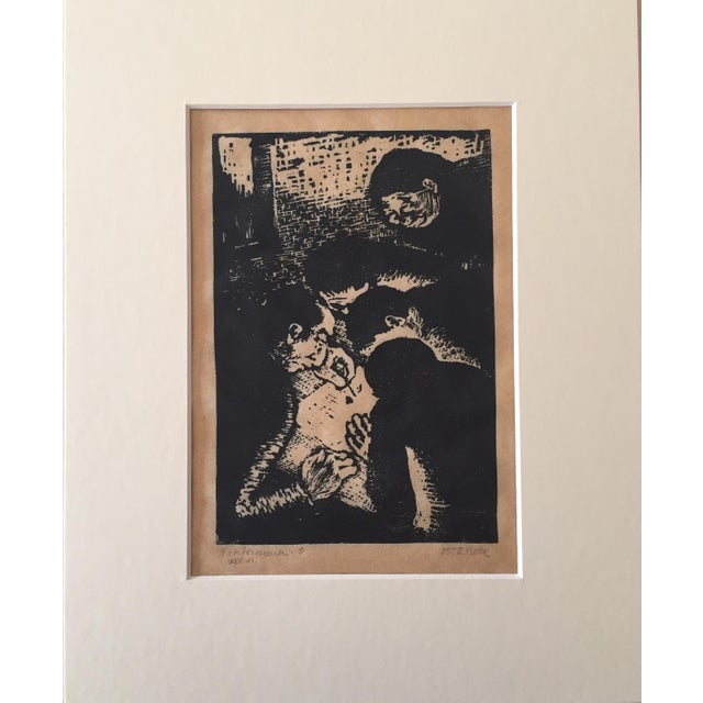 Vintage Fayga Ostrower Woodblock Print - Image 1 of 5