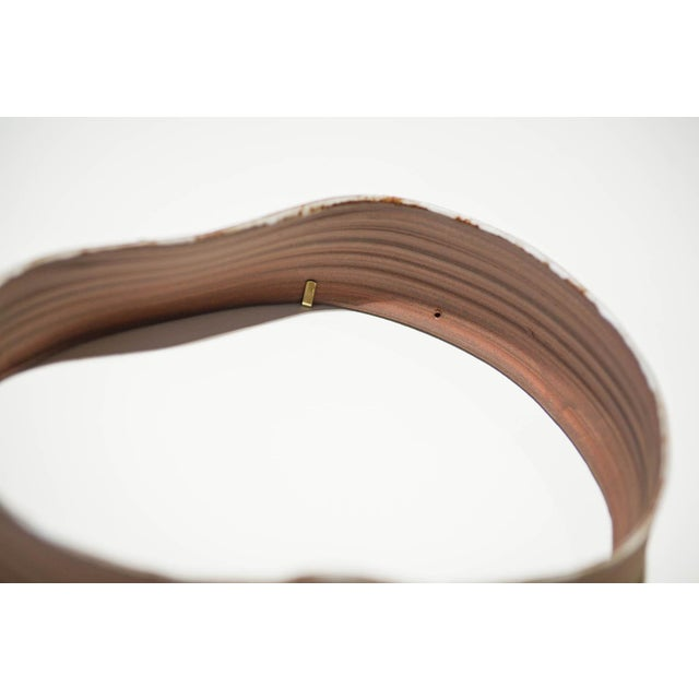 """Contemporary Yokky Wong """"Cycles"""" Series Wall-Mounted Porcelain Ring Sculpture #3 For Sale - Image 3 of 10"""