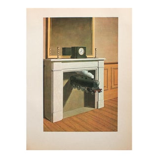 """1972 Rene Magritte, """"Time Transfixed"""" Original Photogravure For Sale"""