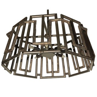 Customizable Paul Marra Trellis Chandelier in Oil Rubbed Bronze For Sale