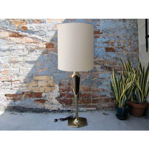 Gold Tall Sculptural Art Deco Laurel Table Lamp For Sale - Image 8 of 8