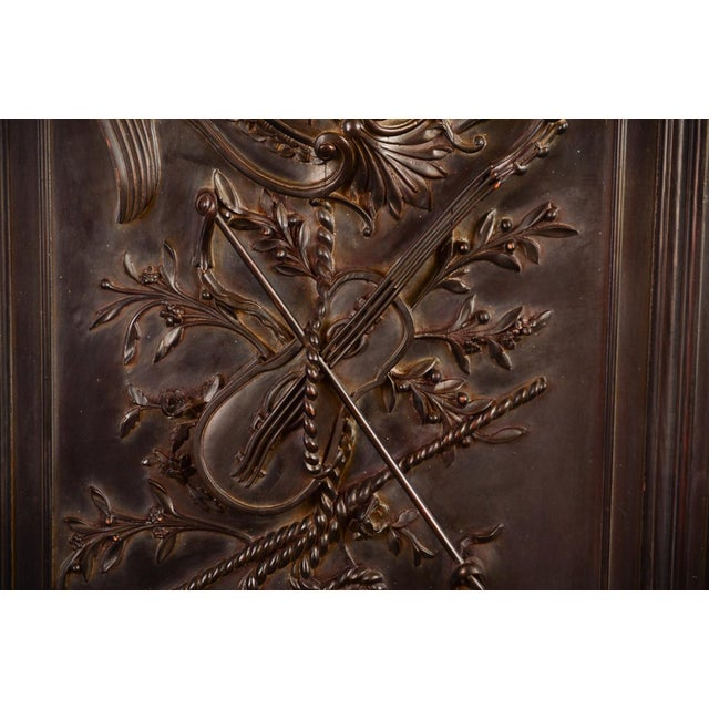 Antique Neoclassical Carved Doors - Set of 4 - Image 7 of 11