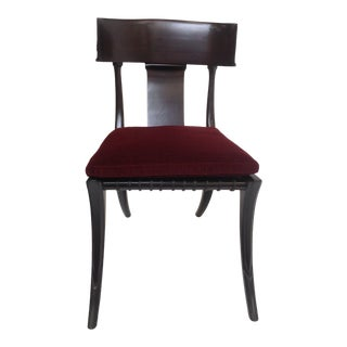 Mid Century Modern Klismos Dining Chair With Cushion For Sale