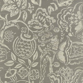 Sample - Schumacher Uccello Sisal Wallpaper in Grey For Sale