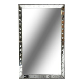 Parisian Mirror With Studded Glass Frame For Sale