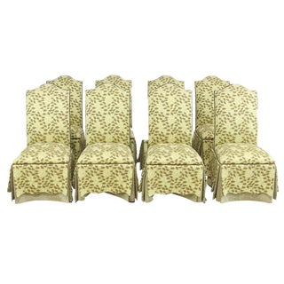 Custom Slipper Dining Chairs- Set of 8 For Sale