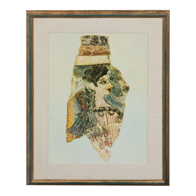 Modernist Print of a Greek Antiquities Pottery Fragment in Custom Gallery Frame For Sale