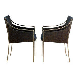 1970s Vintage Chrome Armchairs - a Pair For Sale