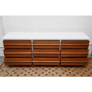 Vic Art Credenza in Natural and White Lacquer, 1960s Preview
