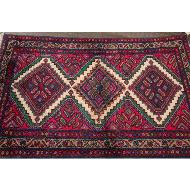 "Apadana - Vintage Persian Hamadan Rug, 2'8"" x 4'4"" - Image 3 of 5"