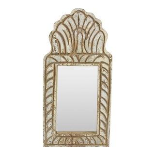 Weathered Teak Jharoka Mirror For Sale
