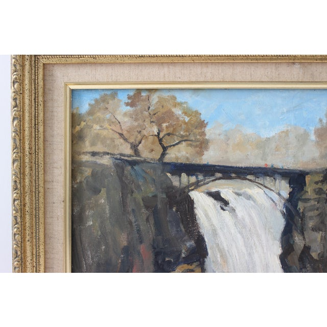 """Realism Vintage Oil Painting """"Paterson Falls"""" John Elliot, Opa For Sale - Image 3 of 12"""