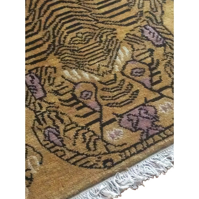 "Hand-Knotted Tibetan Tiger Rug - 4'7"" x 6'7"" - Image 2 of 3"