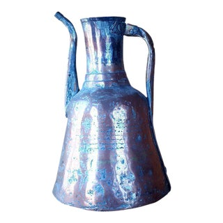 1960s Rustic Style Copper Jug For Sale