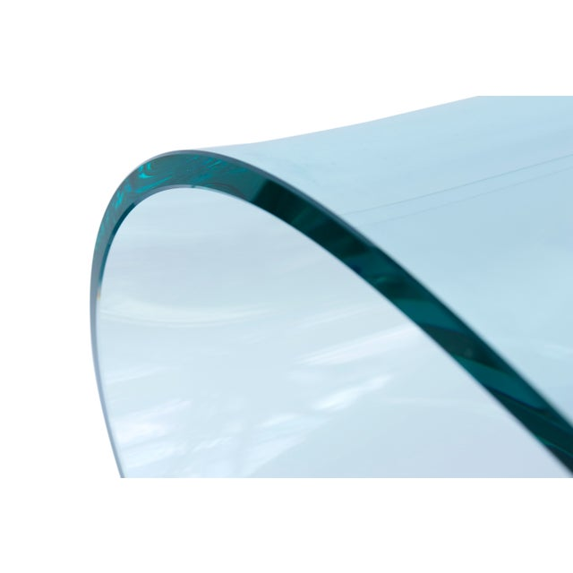 Early 21st Century Fiam Italia Attributed Glass Ribbon Table For Sale - Image 5 of 10