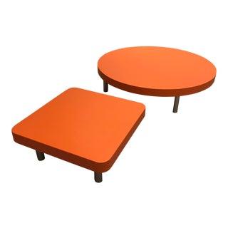 Modern Orange Coffee Tables - A Pair