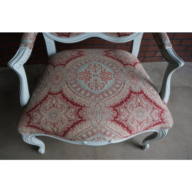 French Modern Ethan Allen French Provincial Chantel Accent Chair For Sale - Image 3 of 10