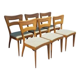 "Heywood Wakefielf ""Dogbone"" Chairs - Set of 6 For Sale"
