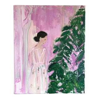 "Contemporary Figurative Painting ""Pink and Green #2"" by Jj Justice"