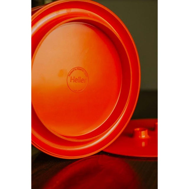 Vintage Mid-Century Massimo Vignelli Heller Plate Storage Container For Sale - Image 9 of 10