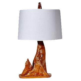 1950s Driftwood Style Table Lamp For Sale