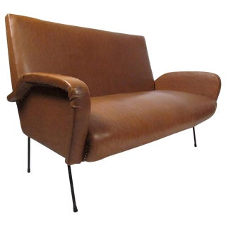 Vintage Italian Modern Two Seat Sofa For Sale
