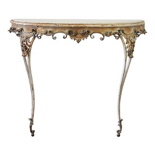 19th Century Shabby Chic Iron Decorative Console Table For Sale