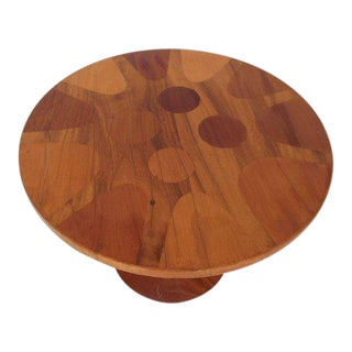Amazing Vintage Modern Round End Table For Sale
