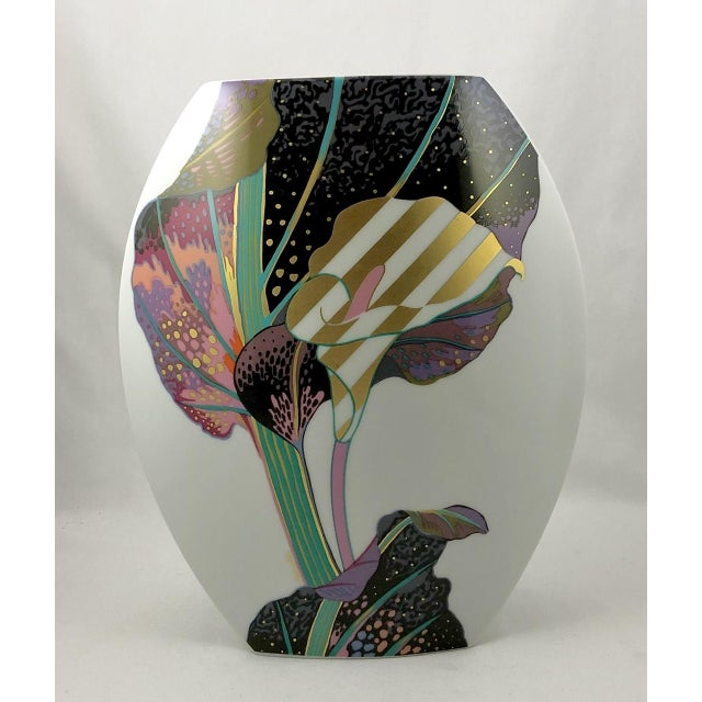 A vintage porcelain sculptural vase produced by Rosenthal of Germany as part of their Studio Linie range. The form was...