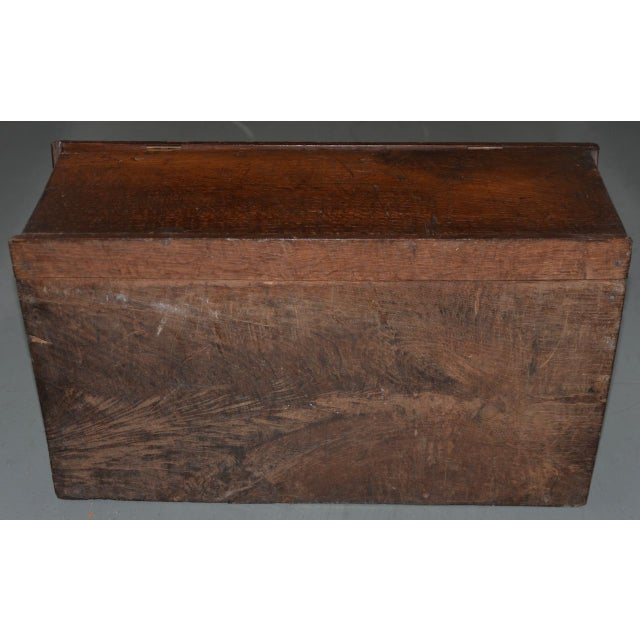Wood 18th Century Carved Walnut Bible Box C.1763 For Sale - Image 7 of 11