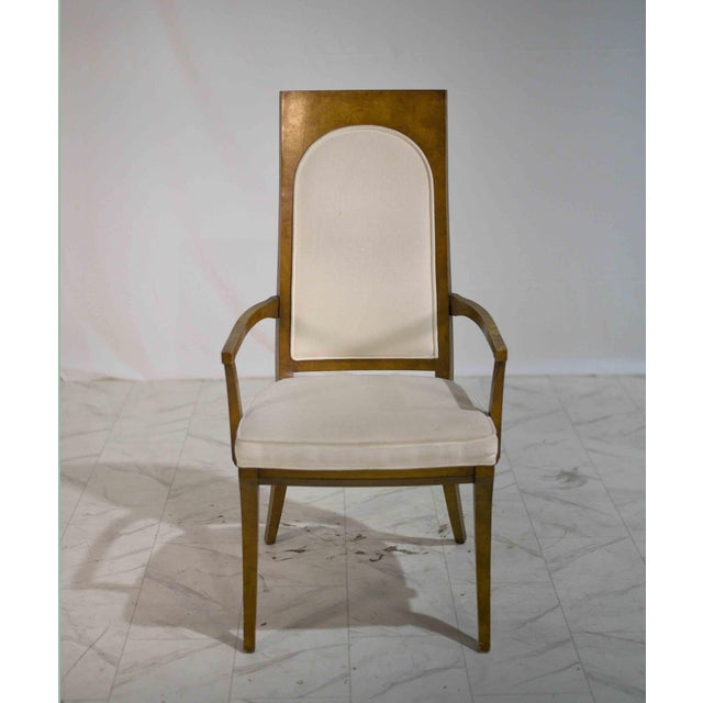 Wood 1960s Hollywood Regency Amboyna Wood Dining Chairs by Mastercraft - Set of 6 For Sale - Image 7 of 13