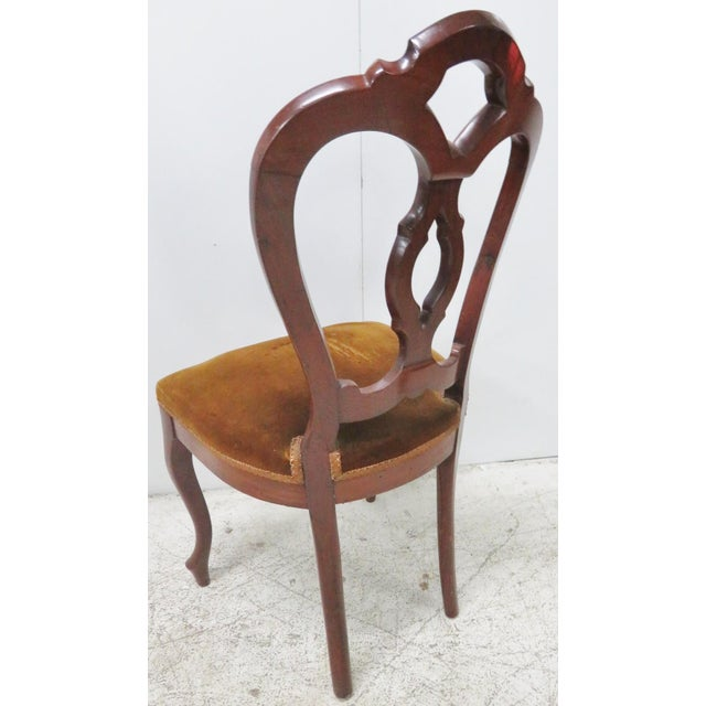Victorian Mahogany Side Chair For Sale - Image 4 of 6