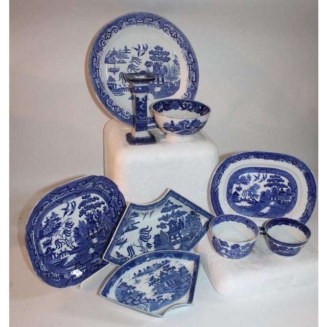 Ceramic 19th-20th Century Blue Willow Collection, 9 Pcs For Sale - Image 7 of 10