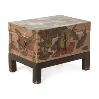 1920s Chinese Painted Lacquer Trunk on Stand Preview