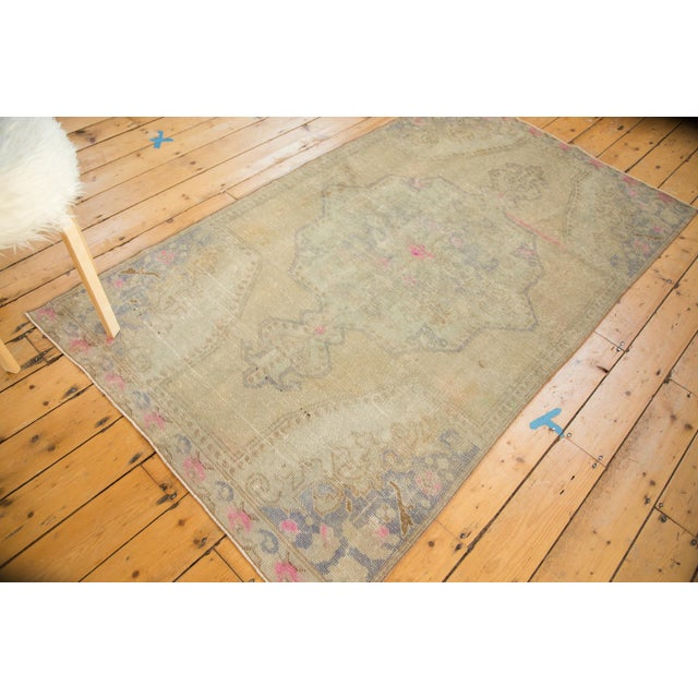 Vintage Distressed Oushak Rug - 4' x 7' - Image 5 of 11