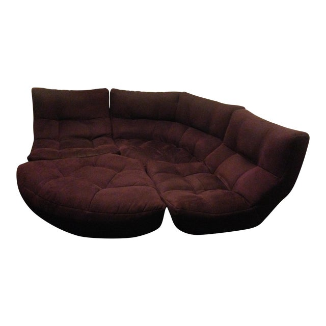 4-Piece Curved Sectional Sofa For Sale