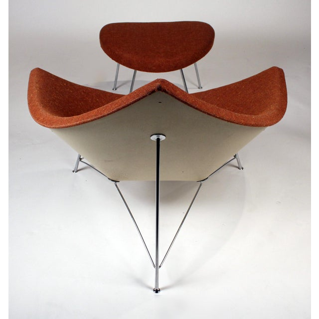 Herman Miller Museum Quality Early Coconut Chair & Ottoman by George Nelson for Herman Miller For Sale - Image 4 of 10