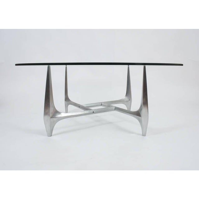 Ronald Schmitt Large Sculptural Aluminium Coffee Table by Knut Hesterberg For Sale - Image 4 of 6