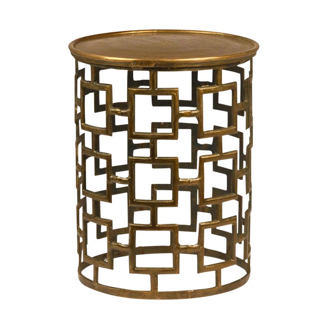 Contemporary Brass Side Table For Sale
