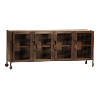 Industrial Iron Mesh Sideboard For Sale