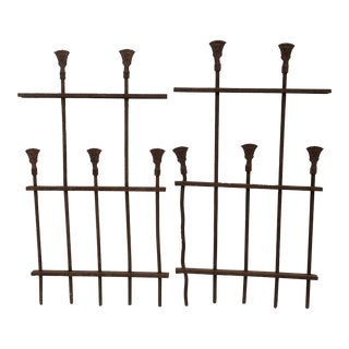 Antique Iron Fence Remnants - A Pair