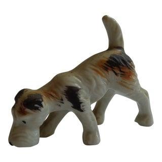 Vintage China Sniffing Terrier Dog Figurine