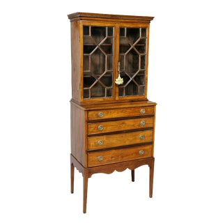Anglo Indian Rosewood Cabinet on Stand For Sale